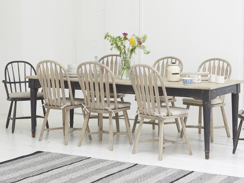 Farmhouse vintage Bossy Beached dining and kitchen chairs