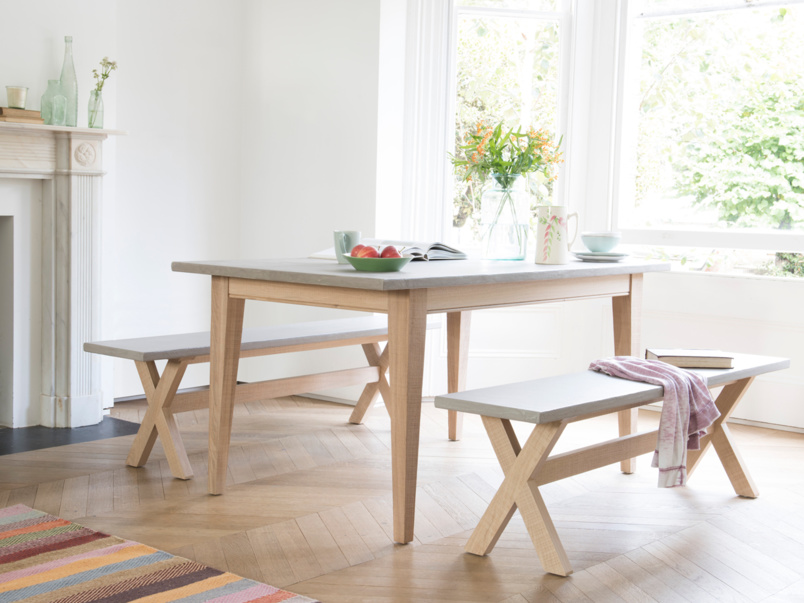 Beautiful concrete Conker kitchen table