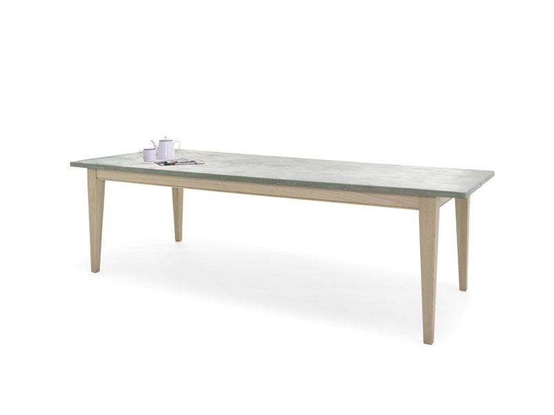 Stunning Conker industrial dining table with a tough beautiful concrete top