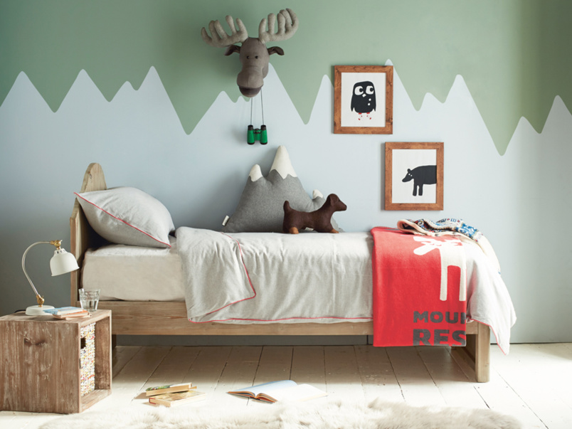 Greta kids' reclaimed wooden bed