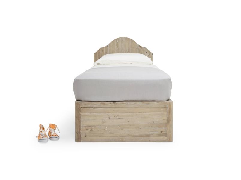 Greta cool kids' reclaimed wooden bed