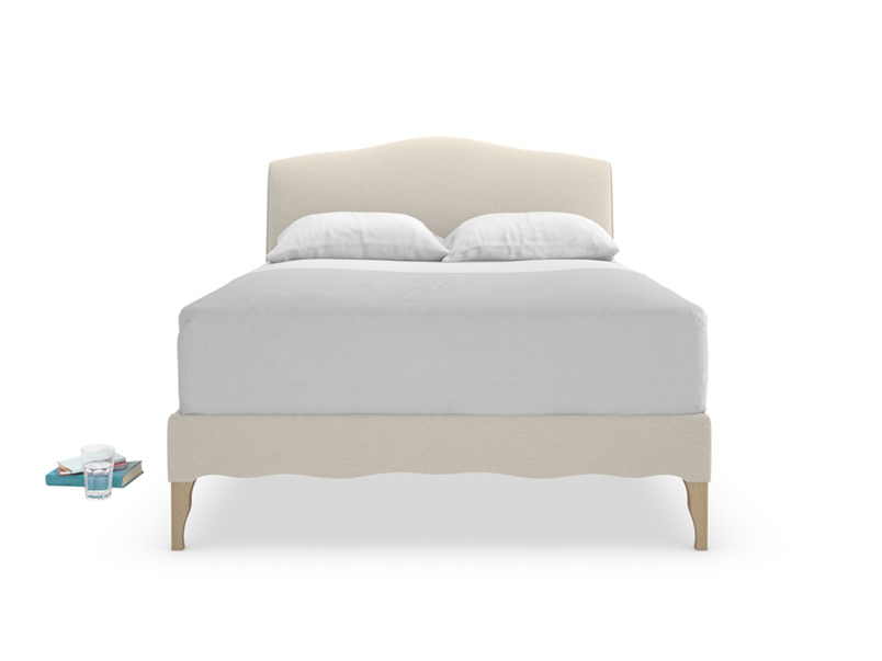 Frenchie upholstered French style bed