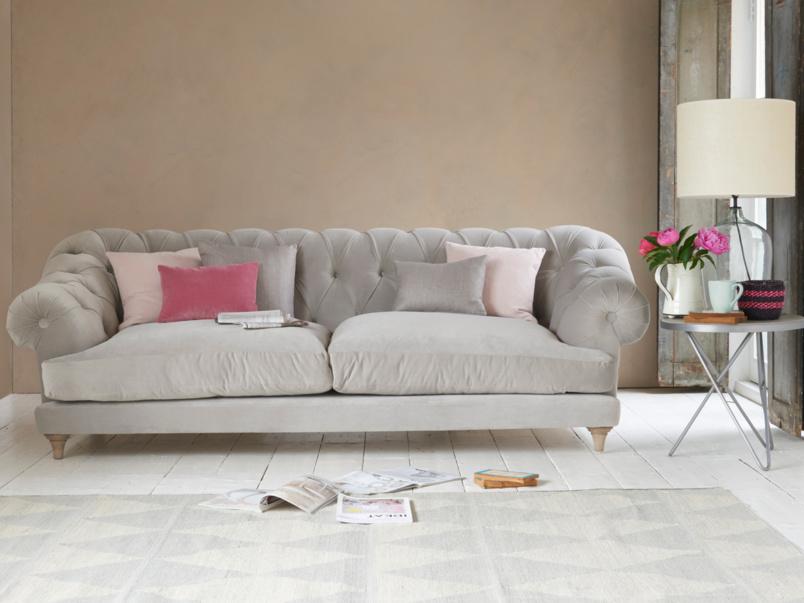 Chesterfield stylish Bagsie deep British made luxury sofa