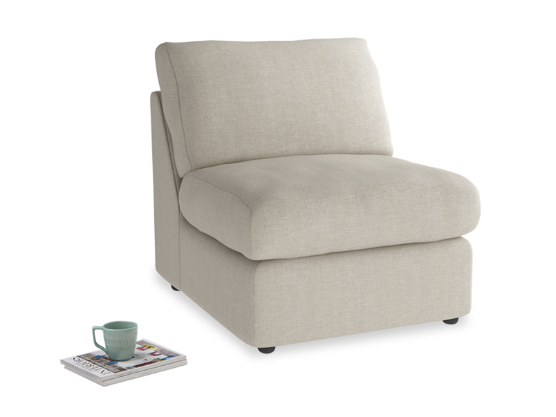 Armless Chatnap modular single sofa storage seat
