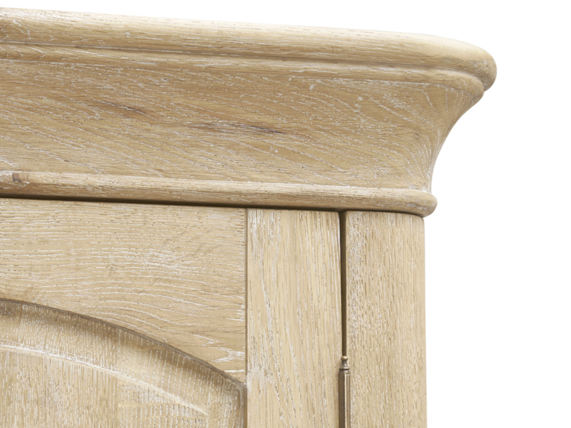 Traditional vintage style Pascale wardrobe handmade in our weathered oak