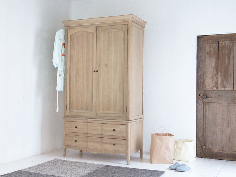 Pascale wardrobe a lovely French style wardrobe handmade from solid oak