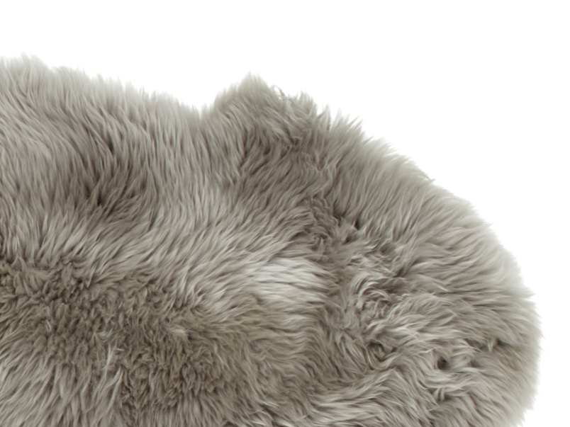 Sheepskin grey small fur fluffy Nuzzler rug