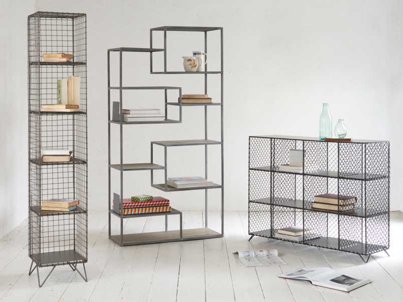 Industrial style Tickety reclaimed shelves