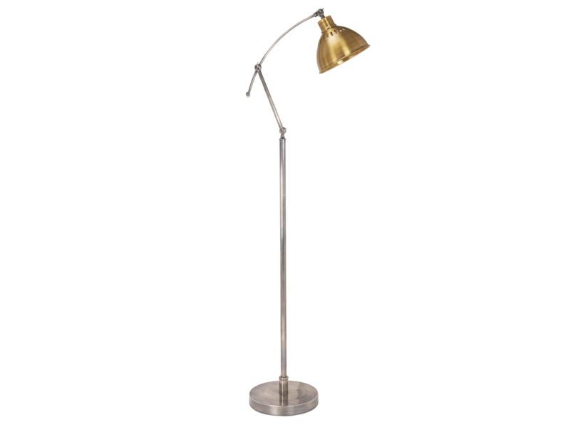 Loco adjustable brass vintage floor lamp