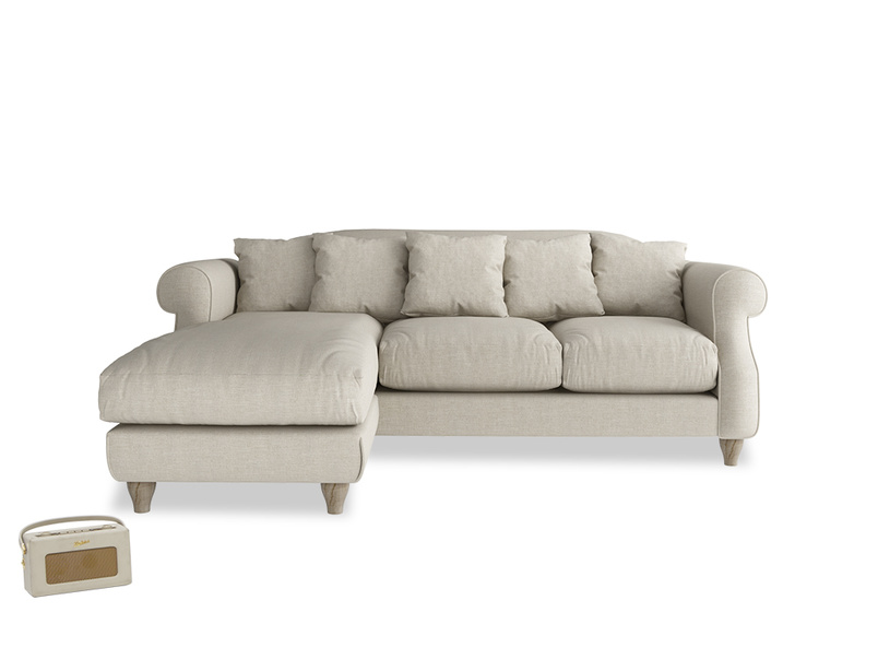 Classic deep seated Sloucher chaise sofa