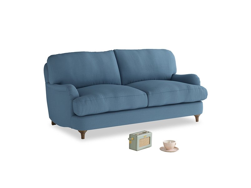 Small Jonesy Sofa in Easy blue clever linen