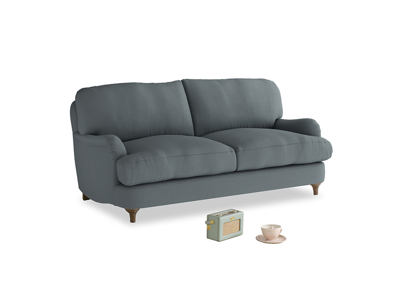 Small Jonesy Sofa in Meteor grey clever linen