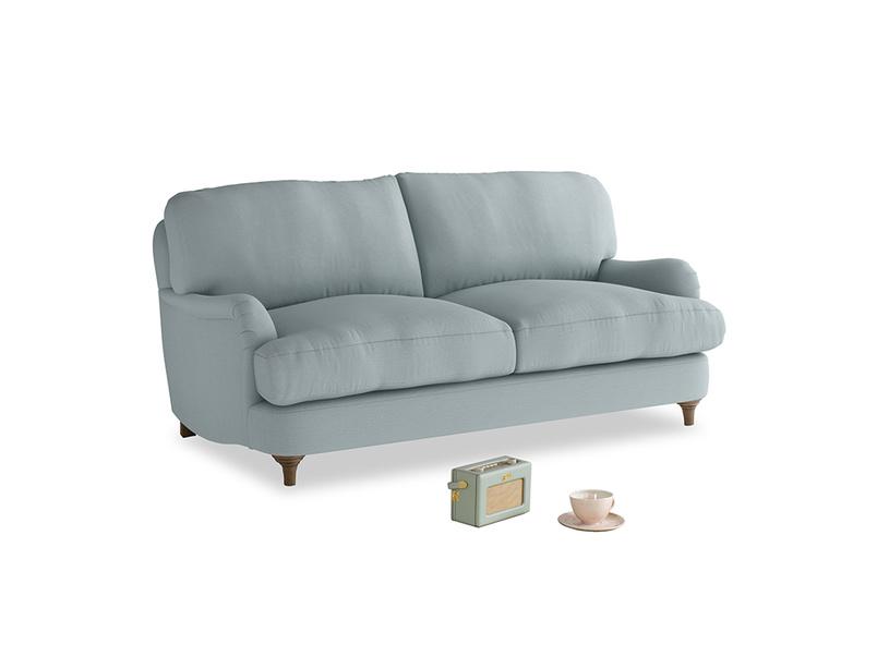 Small Jonesy Sofa in Quail's egg clever linen