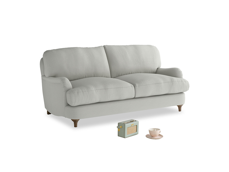 Small Jonesy Sofa in Mineral grey clever linen