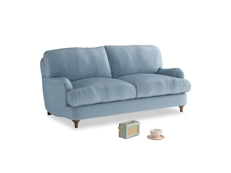 Small Jonesy Sofa in Chalky blue vintage velvet