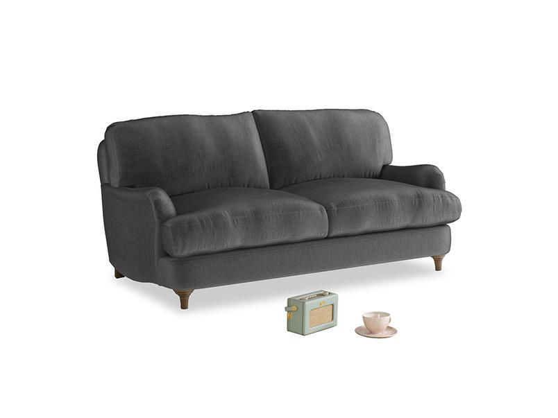 Small Jonesy Sofa in Scuttle grey vintage velvet