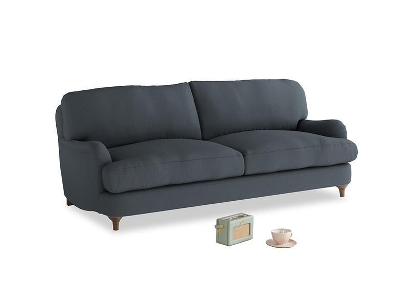Medium Jonesy Sofa in Lava grey clever linen