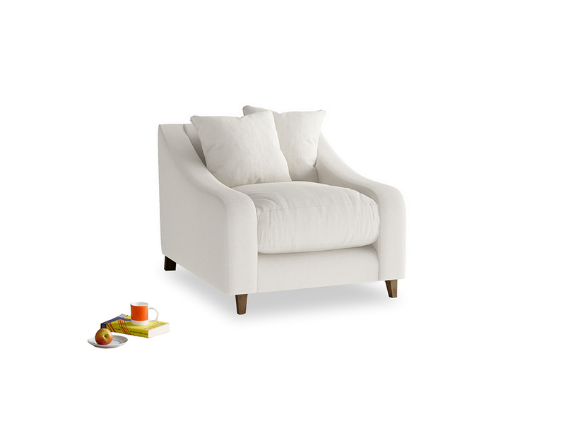 Oscar Armchair in Oyster white clever linen
