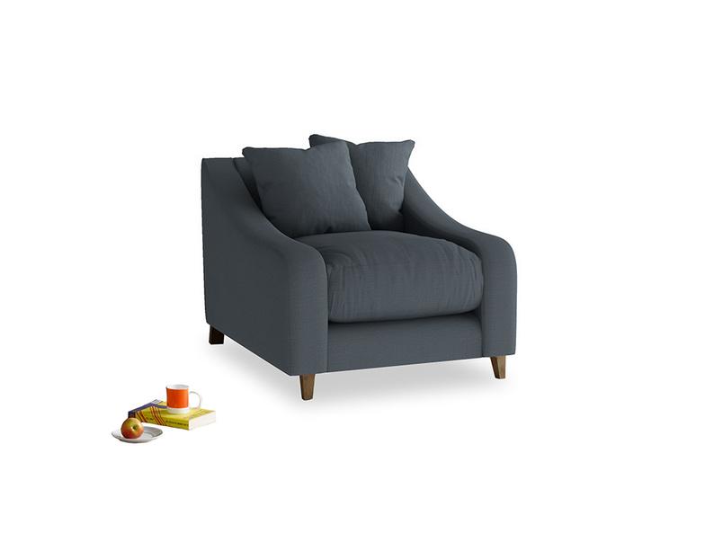 Oscar Armchair in Lava grey clever linen