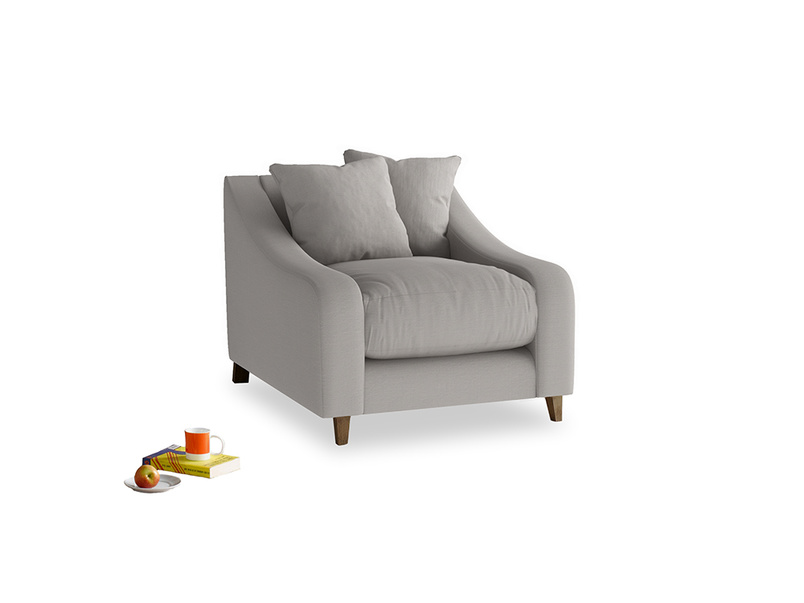 Oscar Armchair in Safe grey clever linen