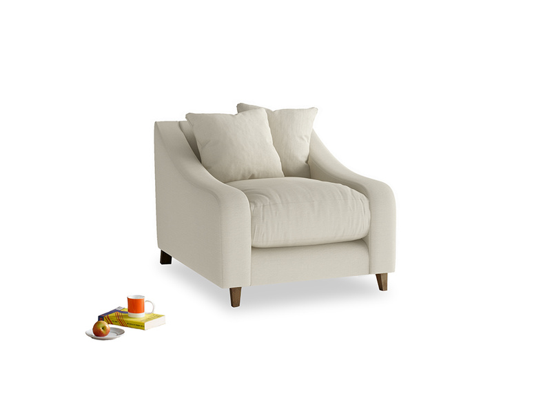 Oscar Armchair in Pale rope clever linen