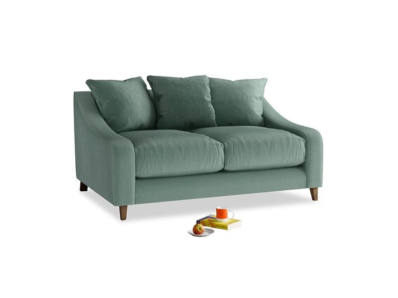 Small Oscar Sofa in Sea blue vintage velvet