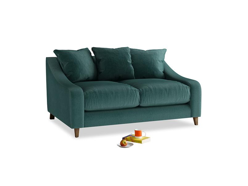 Small Oscar Sofa in Timeless teal vintage velvet