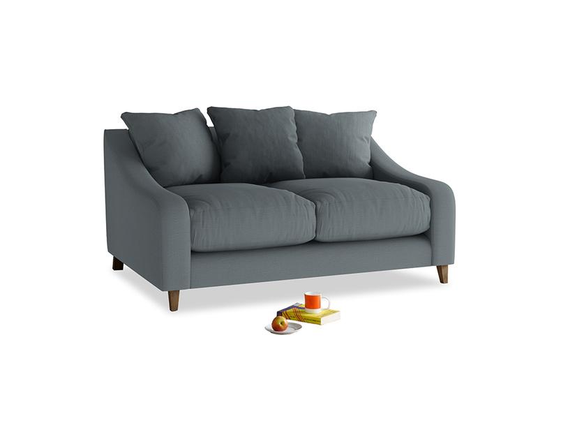 Small Oscar Sofa in Meteor grey clever linen