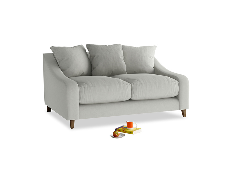 Small Oscar Sofa in Mineral grey clever linen