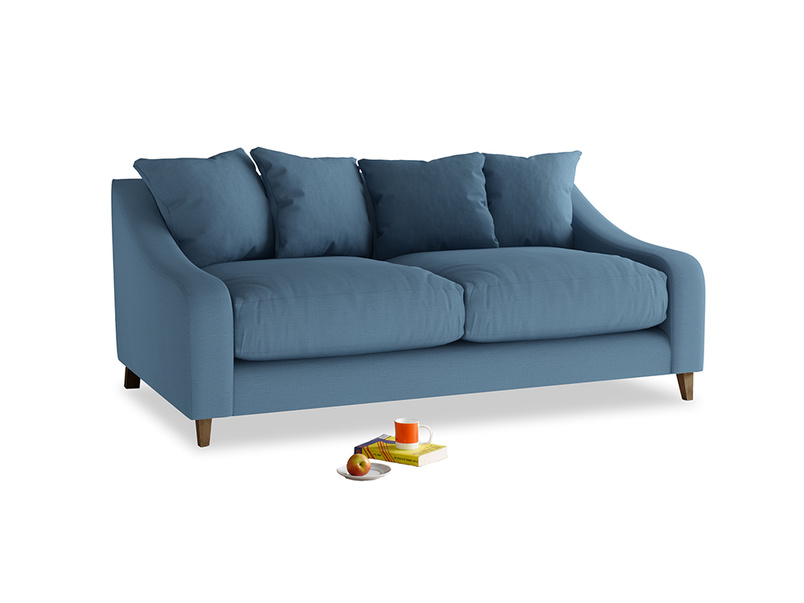 Medium Oscar Sofa in Easy blue clever linen