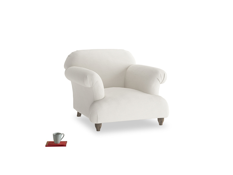 Soufflé Armchair in Oyster white clever linen