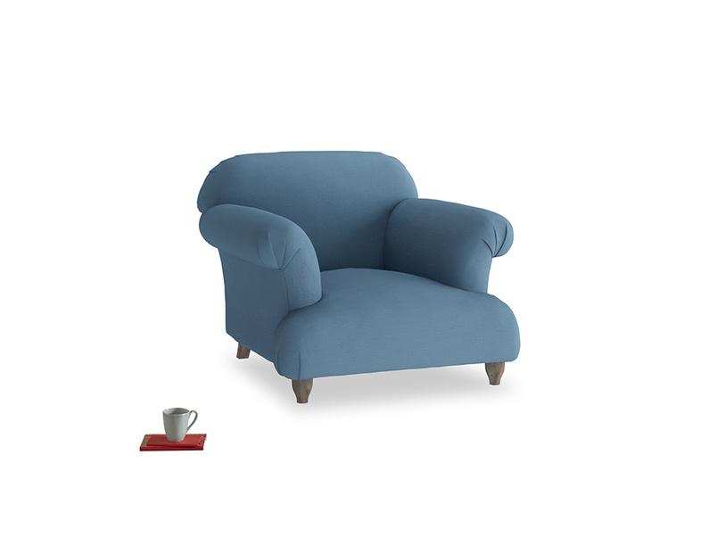 Soufflé Armchair in Easy blue clever linen