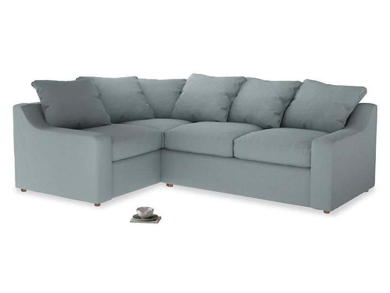 Large Left Hand Cloud Corner Sofa in Quail's egg clever linen