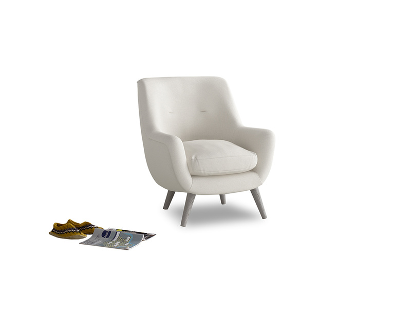 Berlin Armchair in Oyster white clever linen