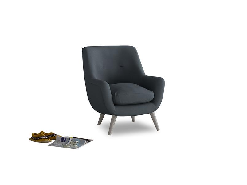 Berlin Armchair in Lava grey clever linen