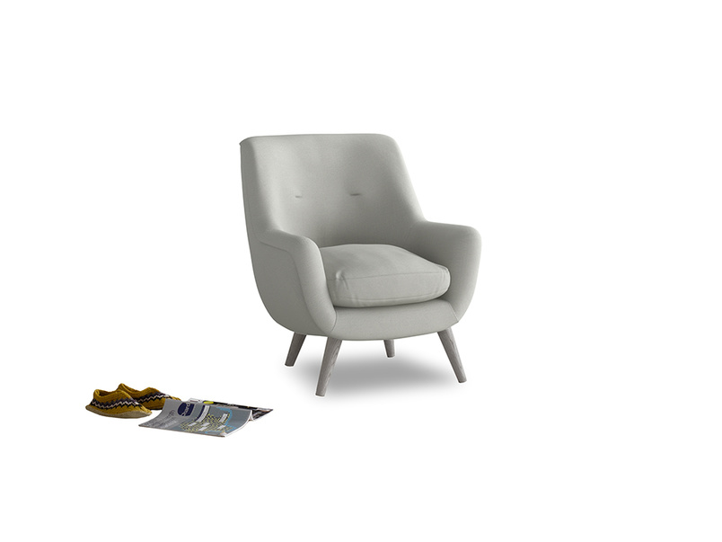 Berlin Armchair in Mineral grey clever linen