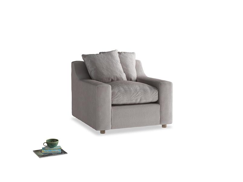 Cloud Armchair in Soothing grey vintage velvet