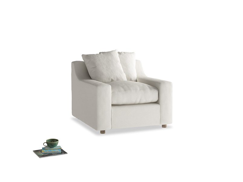 Cloud Armchair in Oyster white clever linen
