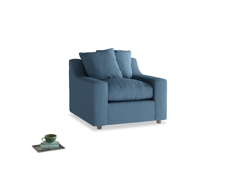 Cloud Armchair in Easy blue clever linen