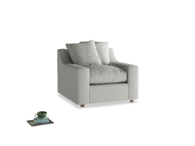 Cloud Armchair in Mineral grey clever linen