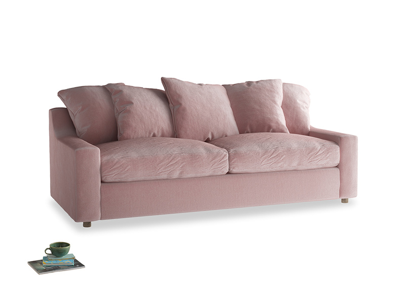 Large Cloud Sofa in Chalky Pink vintage velvet