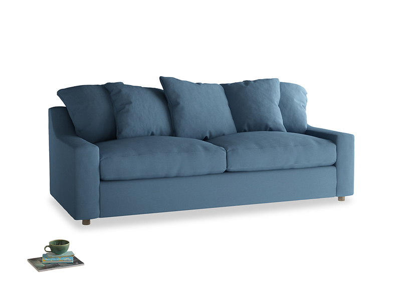 Large Cloud Sofa in Easy blue clever linen
