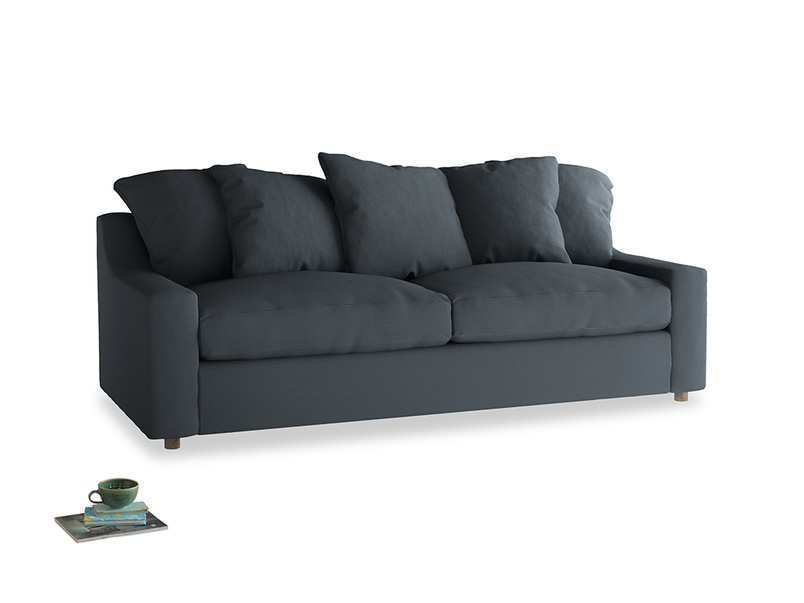 Large Cloud Sofa in Lava grey clever linen