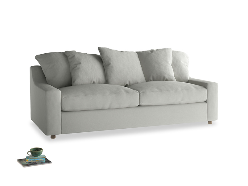 Large Cloud Sofa in Mineral grey clever linen