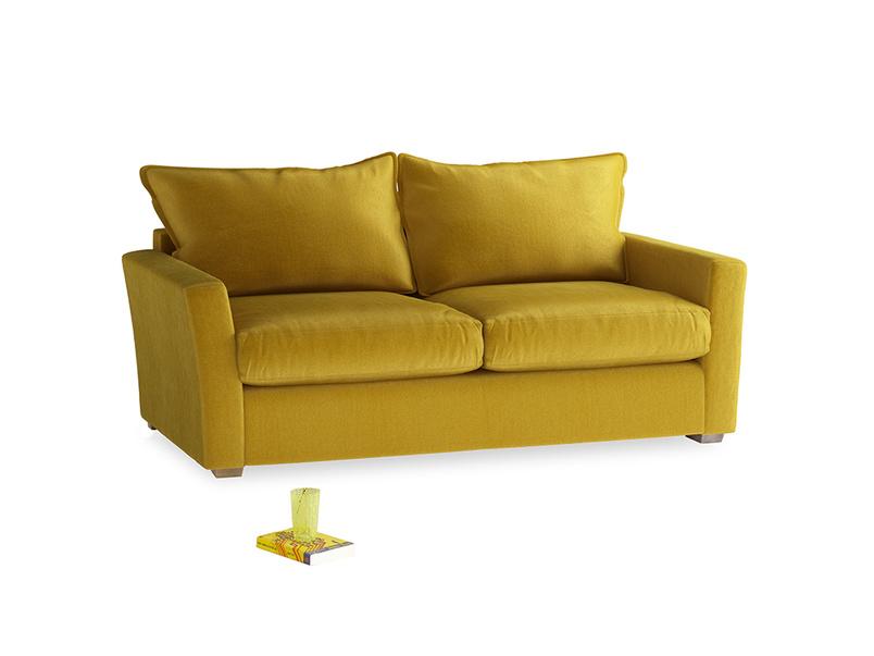 Medium Pavilion Sofa Bed in Burnt yellow vintage velvet