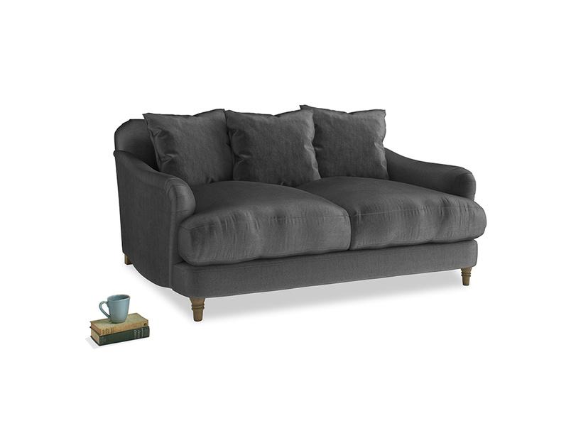 Small Achilles Sofa in Scuttle grey vintage velvet