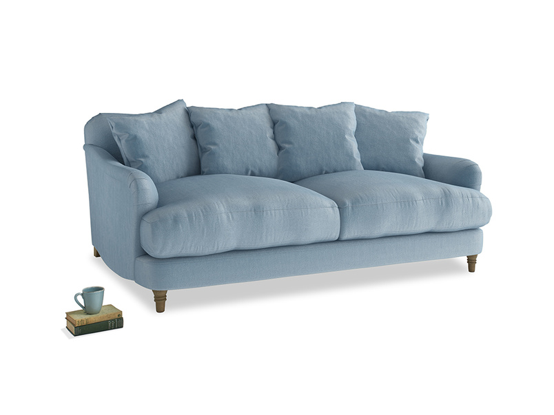 Medium Achilles Sofa in Chalky blue vintage velvet
