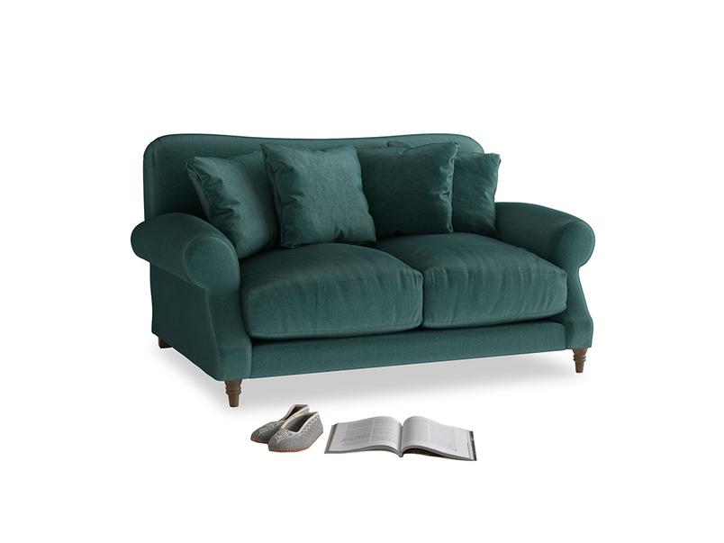 Small Crumpet Sofa in Timeless teal vintage velvet