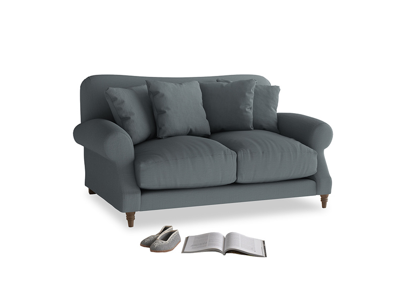 Small Crumpet Sofa in Meteor grey clever linen