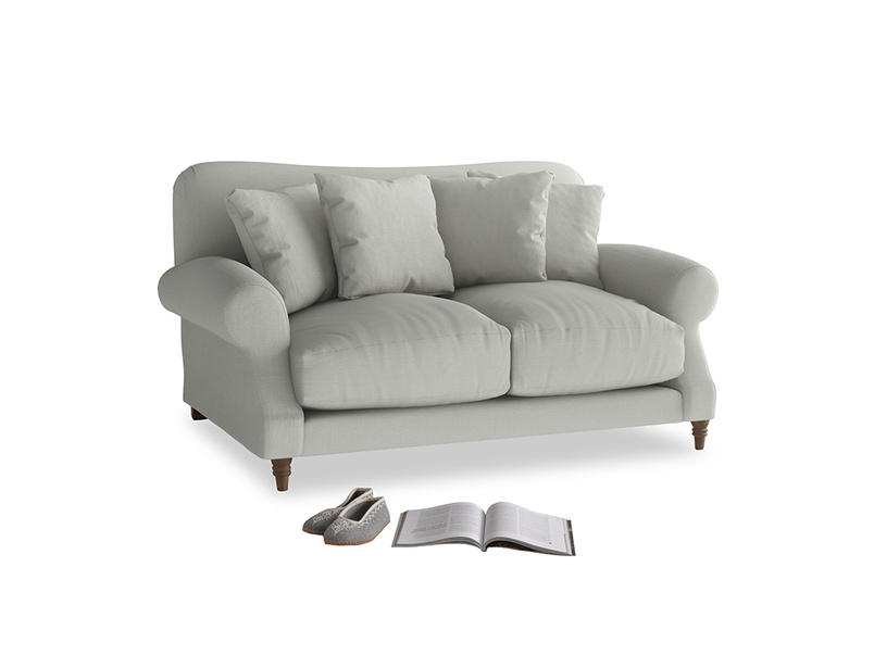 Small Crumpet Sofa in Mineral grey clever linen